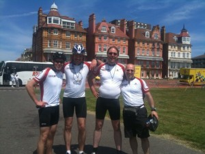 End of the ride - team lovefilm  at Hove